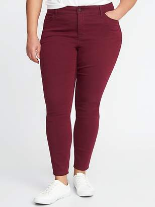 Old Navy Smooth & Slim High-Rise Plus-Size Pop-Color Rockstar Jeans