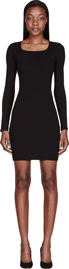 Helmut Lang Helmut Black Knit Gala Dress