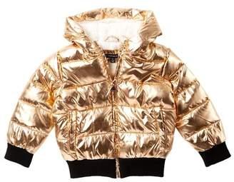 Tahari Metallic Faux Fur Hooded Jacket (Little Girls)
