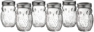 Stylesetter Set of 6 Owl Jars with Lids