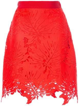 MSGM leaf cut-out skirt