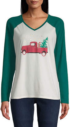 ST. JOHN'S BAY City Streets Christmas Holiday Tee - Tall