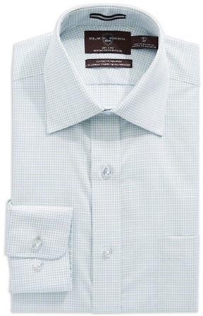 Black Brown 1826 Regular Fit Checkered Dress Shirt