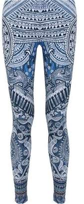 Camilla Crystal-Embellished Printed Stretch-Modal Jersey Leggings