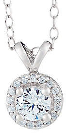 Affinity Diamond Jewelry Round Diamond Halo Pendant, 14K Gold, 3/4 cttw,