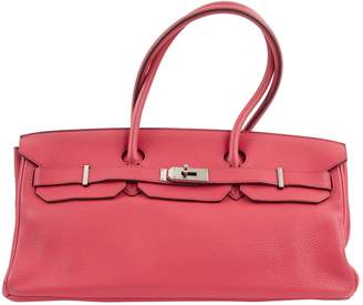 Hermes Birkin Shoulder Pink Leather Handbag