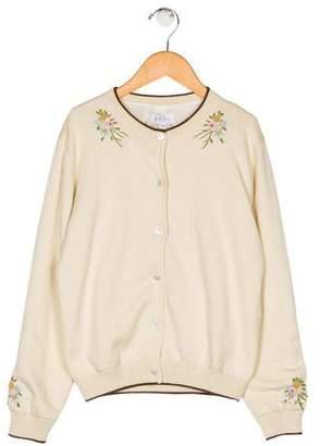 Rachel Riley Girls' Embroidered Knit Cardigan w/ Tags