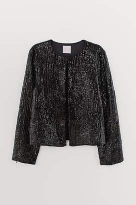 H&M Sequined bead-fringed jacket - Black