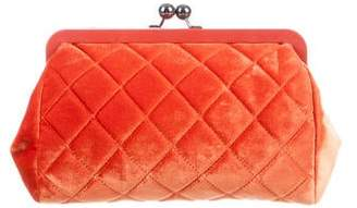 Chanel Quilted Velvet Clutch