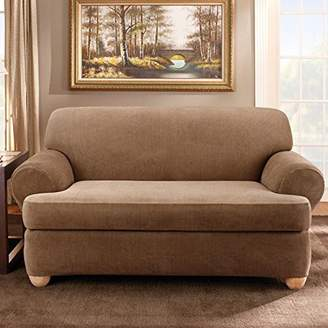 Sure Fit Stretch Stripe T-Cushion Loveseat Slipcover