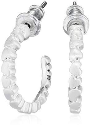 Pilgrim Women Silver Plated Hoop Earrings - 601816063