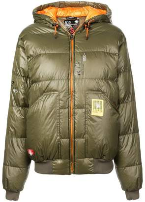 R 13 hooded puffer jacket