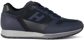 Hogan H321 Blue Leather And Fabric Sneaker