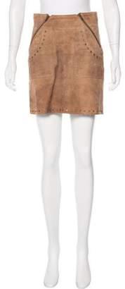 Pam & Gela Suede Mini Skirt