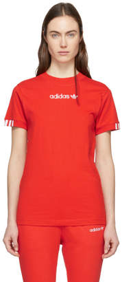 adidas Red Coeeze T-Shirt