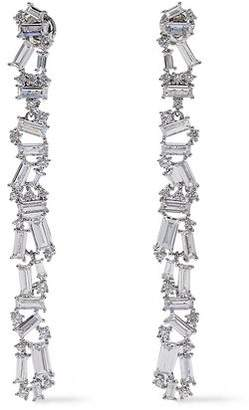 Noir Silver-tone Crystal Earrings