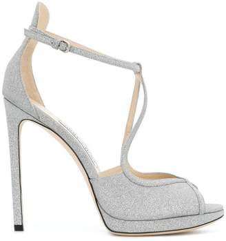 Jimmy Choo Fawne glitter sandals