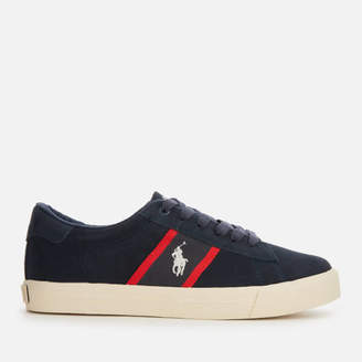 Polo Ralph Lauren Kids' Geoff Suede Trainers - Navy/Red