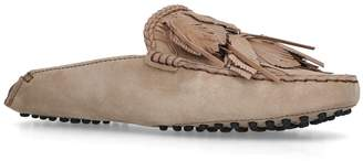 Tod's Leather Braided Slippers