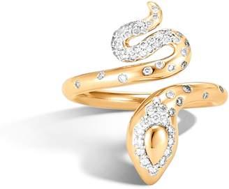 John Hardy Legends Cobra Diamond Pave Ring