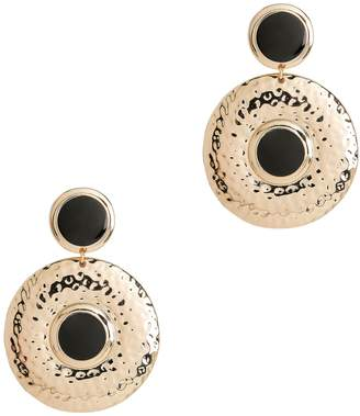 Tuleste Double Shield Black Earrings