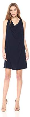 Michael Stars Women's Rylie Rayon Short Sleeve v-Neck Hi-Lo Dress