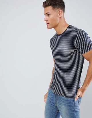 Celio Crew Neck Muscle Fit T-Shirt In Stripe