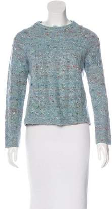Raquel Allegra Mock Neck Cable Knit Sweater
