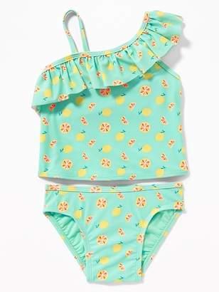 Old Navy One-Shoulder Lemon-Print Tankini for Toddler Girls