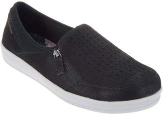 Skechers Perforated Slip On Shoes - Madison Ave Street Smart