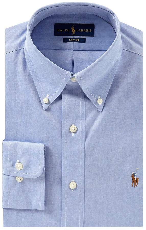 Polo Ralph Lauren Classic Fit Button-Down Collar Solid Oxford Dress Shirt
