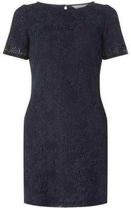 Dorothy Perkins Womens Petite Navy Lace Shift Dress