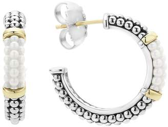Lagos 'Black & White Caviar' Hoop Earrings