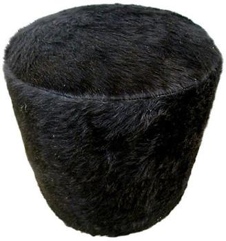 One Kings Lane Vintage Natural Black Hair-On-Cowhide Ottoman