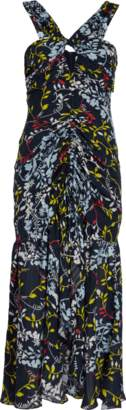 Tanya Taylor Sancia Floral Vines Print Dress