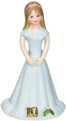 "Enesco Growing Up Girls ""Brunette Age 10"" Porcelain Figurine"