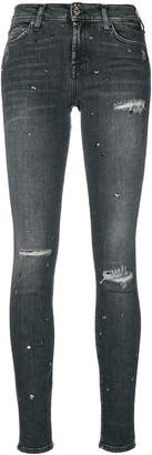 7 For All Mankind distressed effect skinny jeans
