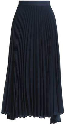 Alice + Olivia Essie Pleated Georgette Midi Skirt