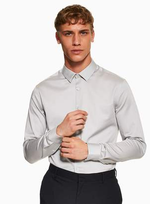 Premium Light Grey Stretch Shirt