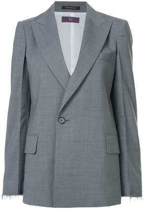 Y's peaked lapel blazer