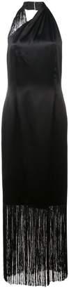 Jill Stuart halter-neck fringed maxi dress
