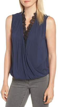Velvet by Graham & Spencer Lace Trim Sleeveless Blouse