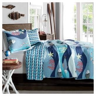 Lush Decor Sealife Quilt Set - Blue (Full/Queen)