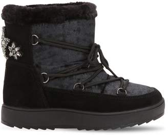 Colors of California Waterproof Velvet & Suede Snow Boots
