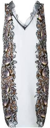 Self-Portrait sleveless foral side panel dress