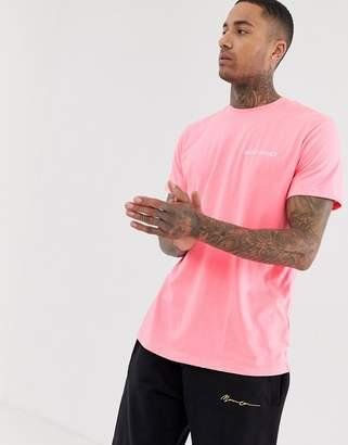 Night Addict oversized neon pink t-shirt