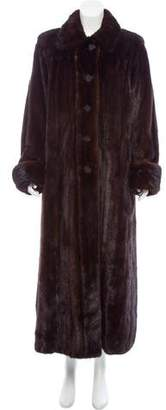 Saint Laurent Mink Full Length Coat