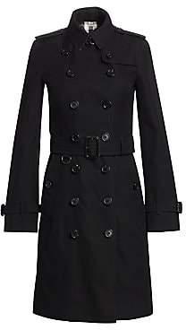 Burberry Women's Sandringham Long Heritage Cotton Trench Coat - Size 0