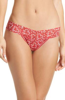 Hanky Panky I Heart Peppermint Low Rise Thong