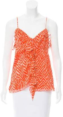 Milly Sleeveless Silk Top